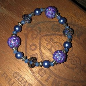Jewelry - Blue and purple sparkly glass bracelet